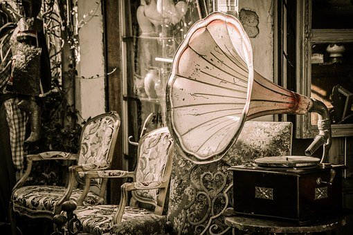 Flea Market, Gramophone, Music, Speakers