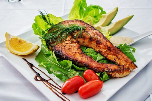 Salmon, Fish, Grilled Fish, Grill, Dish